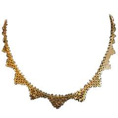 Profiled Brick Chain in 18 Karat Gold