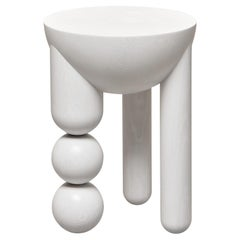 Profiterole Occasional Table Small by Lara Bohinc in White  Wood, in stock