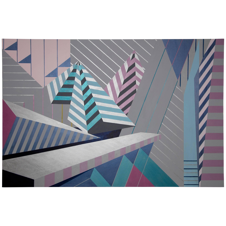 """Progressive"" 2017 Acrylic on Canvas by Cecilia Setterdahl"