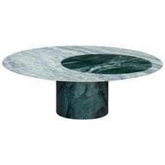 Proiezioni Coffee Table in Verde Alpi & Cipollino Marble by Elisa Ossino