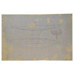 Project of the Fiametta Boat by Charles Sibbick 1899 fron Uffa Fix Archive