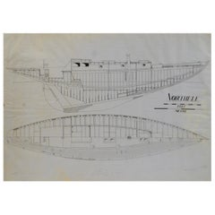 1949s Antique Northele Nautical Ship Project by Berthon Boats Uffa Fox archives