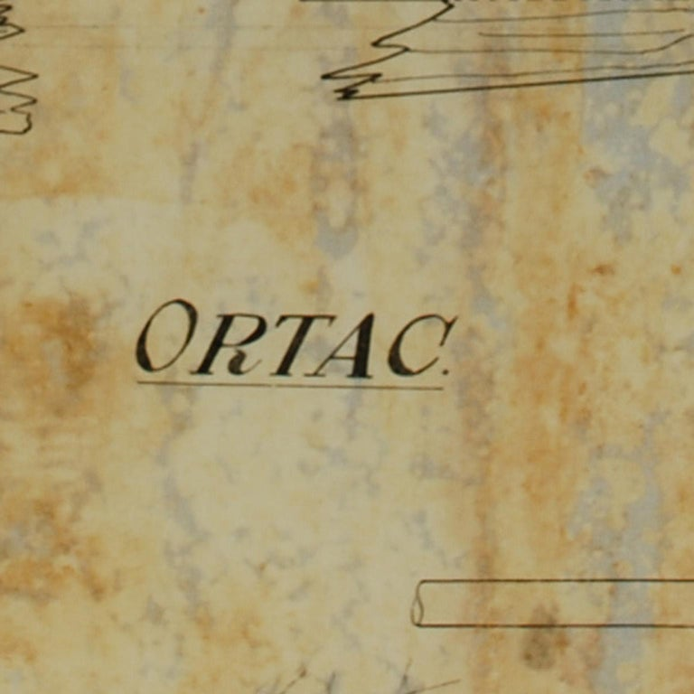 British Project of the Ship Ortac, 1930s For Sale