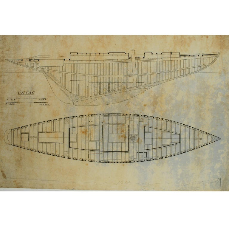 Project of the Ship Ortac, 1930s For Sale
