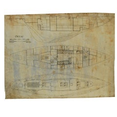 Project of the Ship Ortac, 1930s