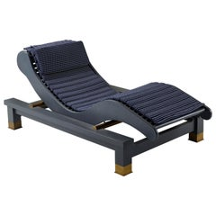Promemoria Belvedere Chaise Longue in Black Stained Ashwood by Romeo Sozzi