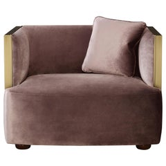 Promemoria Boccaccio Armchair in Bronze and Fabric by Romeo Sozzi