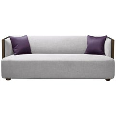 Promemoria Boccaccio Sofa in Bronze and Fabric by Romeo Sozzi