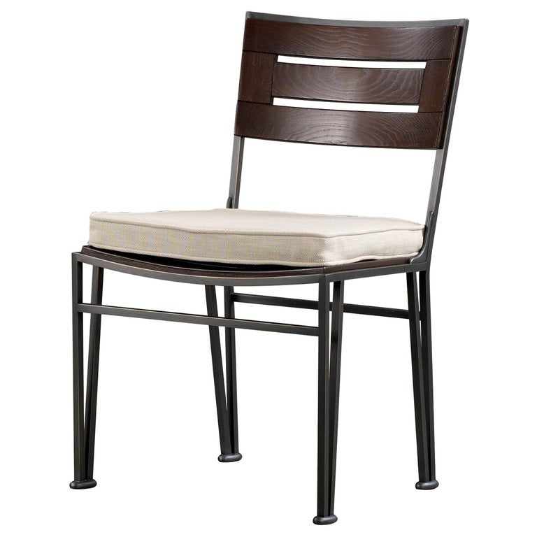 Promemoria Cernobbio Chair in Bronze and Stained Ashwood by Romeo Sozzi For Sale