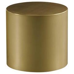 Promemoria Edo Small Table in Smooth Gold Bronze by Romeo Sozzi