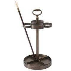 Promemoria Fred Umbrella Stand in Hammered Bronze by Romeo Sozzi