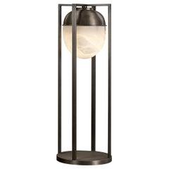 Promemoria Jorinda Floor Lamp in Hammered Bronze with Lampshade by Romeo Sozzi