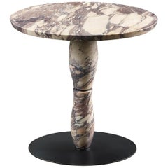 Promemoria Mediterranée Small Marble Table and Dark Bronze by Olivier Gagnère