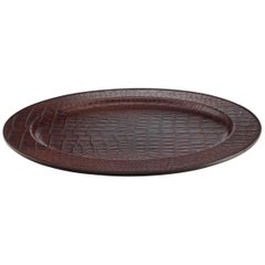 Promemoria Mercurio Tray in Leather by Romeo Rozzi