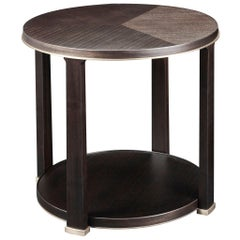 Promemoria Momus Small Table in Brown Mahagony and Bronze by Romeo Sozzi