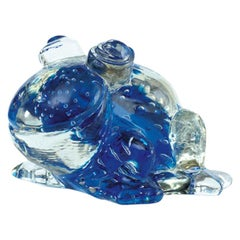Promemoria Frog in Ballotton Murano Glass by Romeo Sozzi