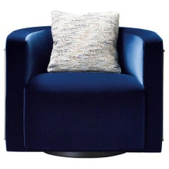 Promemoria Pervinca Armchair in Bronze and Fabric Cushion by Romeo Sozzi