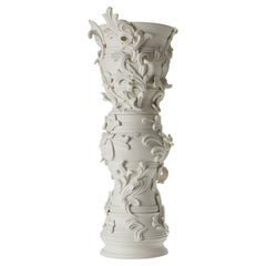 Promenade I, a Unique Architectural Ceramic Sculpture in Porcelain by Jo Taylor
