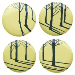 Promenons-Nous Set, 4 French Hand Painted Plates