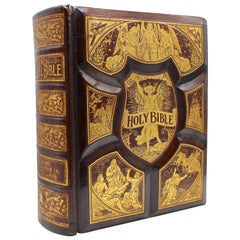 Antique Holy Bible, with 2000 Scripture Illustrations, 1892