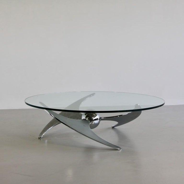 Polychromed Propeller Table by Luciano Campanini, 1973 For Sale