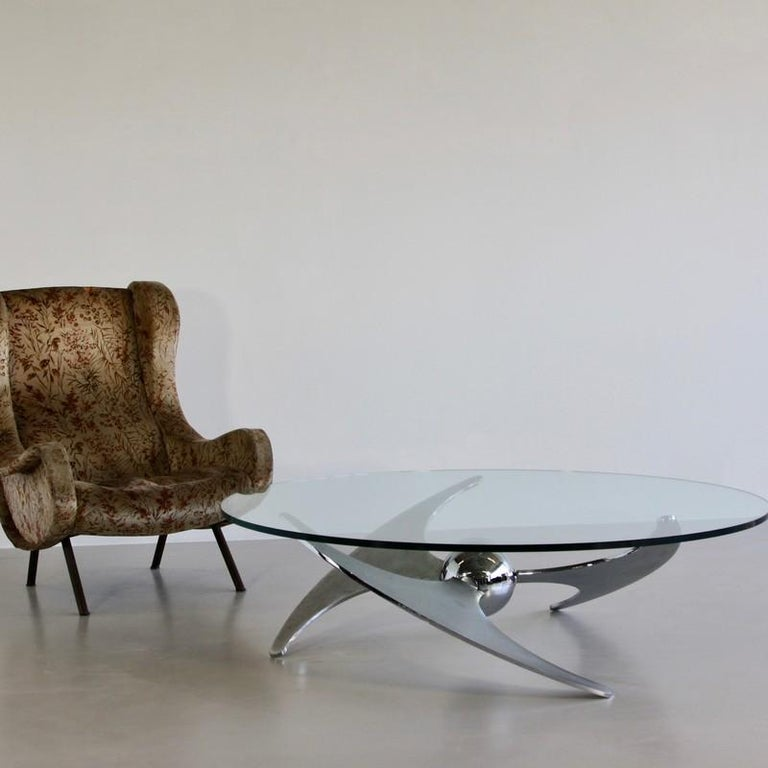 Metal Propeller Table by Luciano Campanini, 1973 For Sale