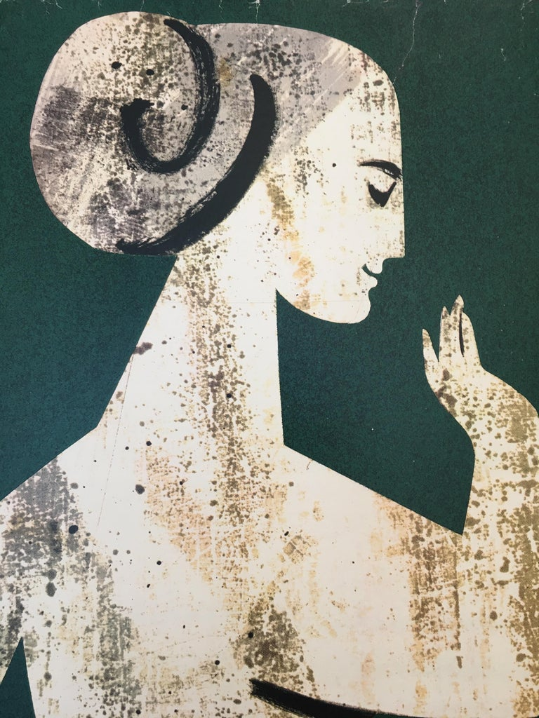 French Properly Packed Parcels Please, GPO Statue Original Vintage Poster, circa 1960 For Sale