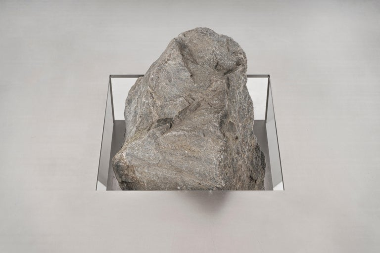 South Korean Proportions of Stone Bench by Lee Sisan For Sale