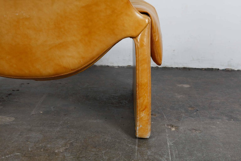 'Proposal Series' Leather Lounge Chair/Ottoman by Vittorio Intrioni for Saporiti 6