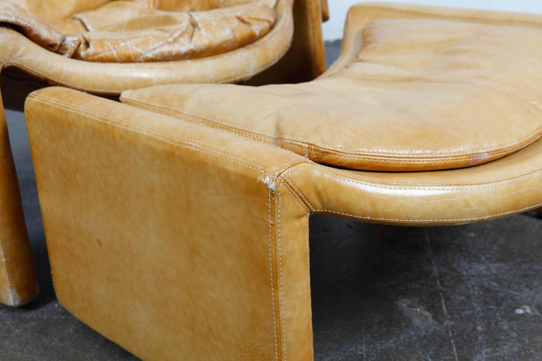 'Proposal Series' Leather Lounge Chair/Ottoman by Vittorio Intrioni for Saporiti 1