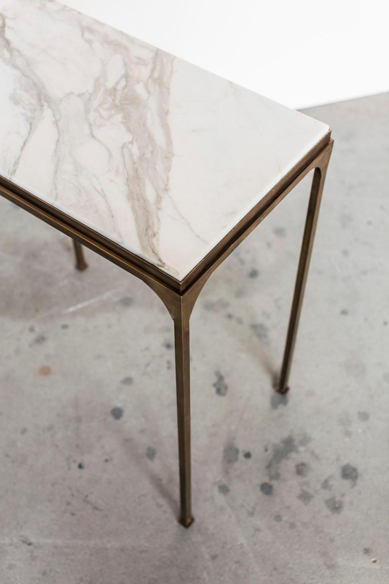 Brass Prosecco Small Side Table For Sale