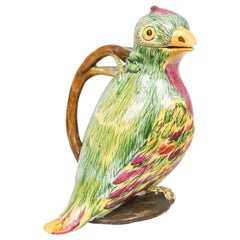 Proskau Faience Tromp L'oeil Jug in the Form of a Parrot, circa 1770