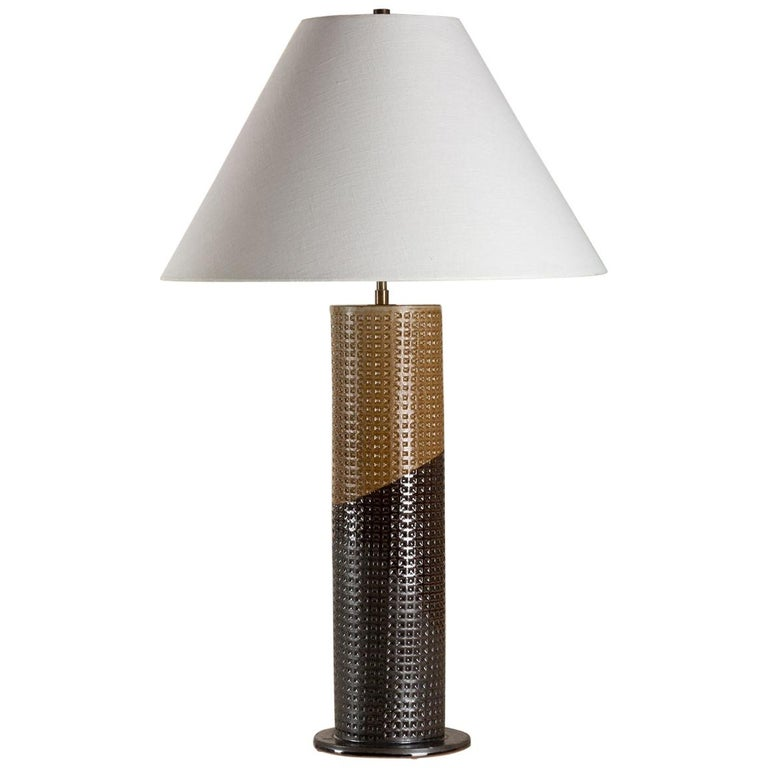 Prospect Heights Lamp, Ceramic Sculptural Table Lamp by Dumais Made For Sale
