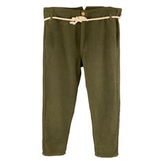 PROSPECTIVE FLOW Size 34 Olive Wool Blend Casual Pants
