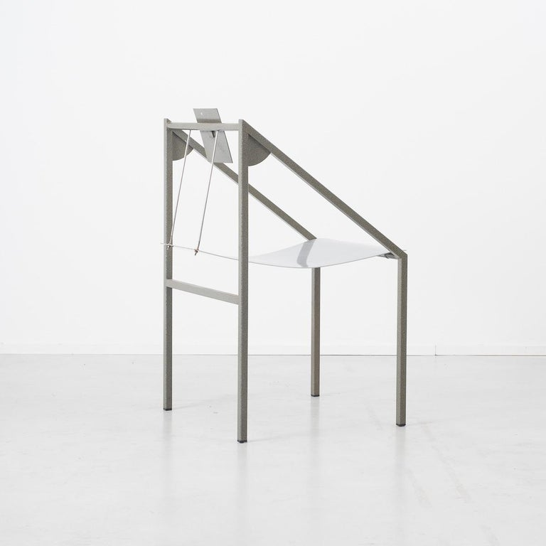 Italian Prototype Chair Attributed to Mario Botta Italy, 1980s For Sale