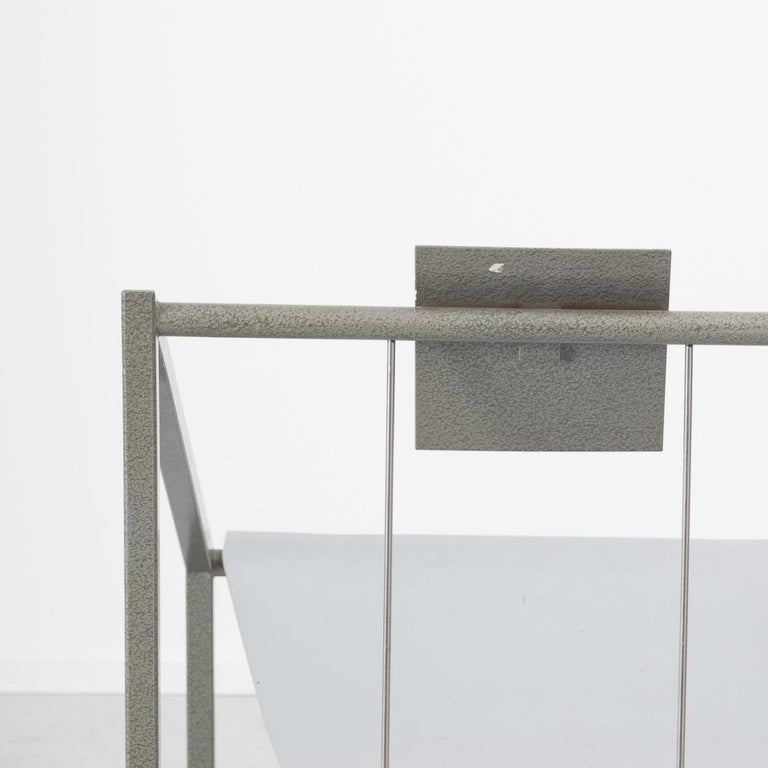 Metal Prototype Chair Attributed to Mario Botta Italy, 1980s For Sale