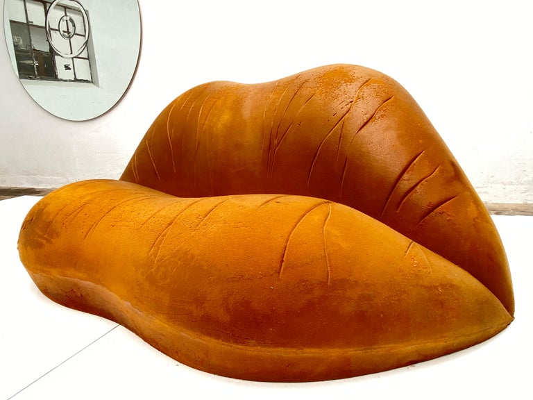 Spanish Prototype Salvador Dali 'Salivasofa' from 1974 with Certificate of Authenticity For Sale