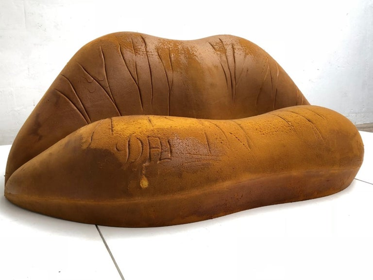 Molded Prototype Salvador Dali 'Salivasofa' from 1974 with Certificate of Authenticity For Sale