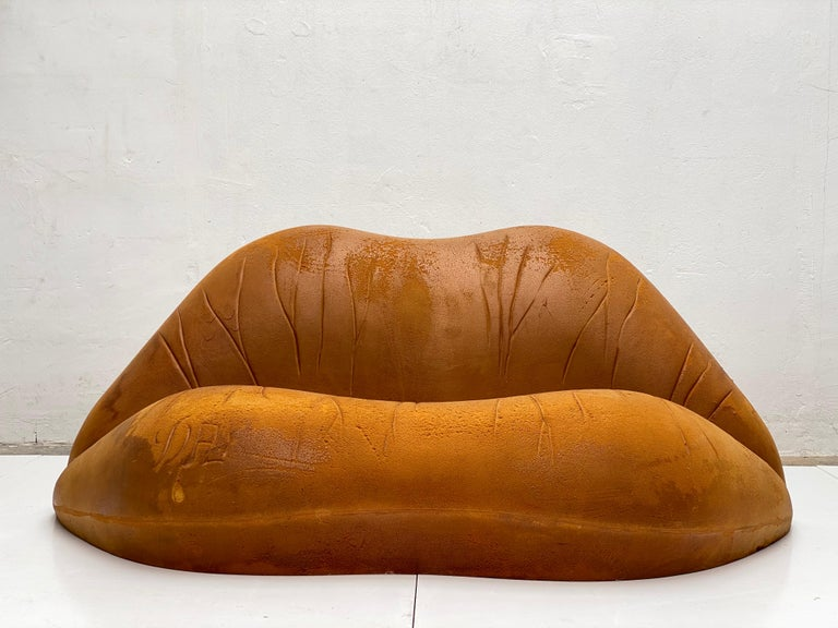 Late 20th Century Prototype Salvador Dali 'Salivasofa' from 1974 with Certificate of Authenticity For Sale