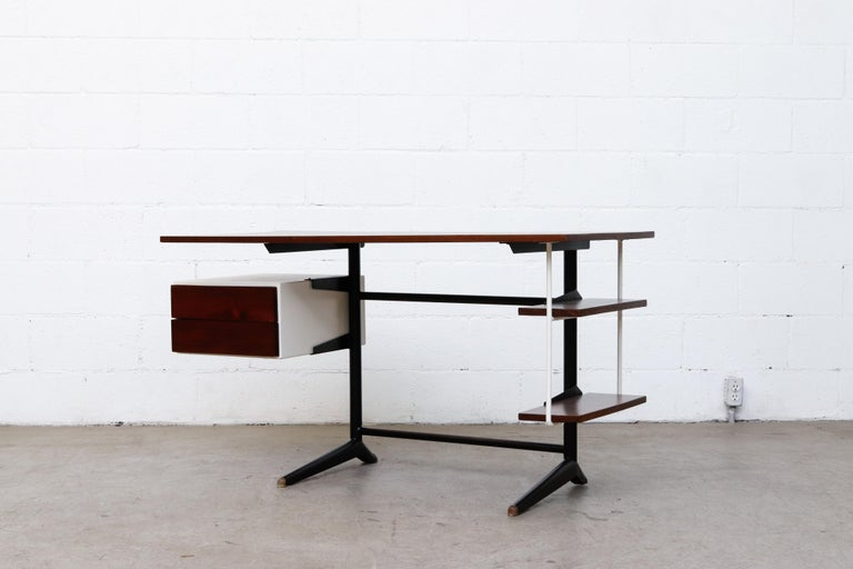 Mid-Century Modern Prouve Inspired Modernist Writing Desk