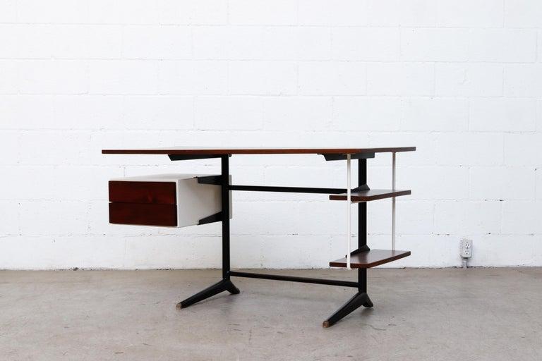 Enameled Prouve Inspired Modernist Writing Desk