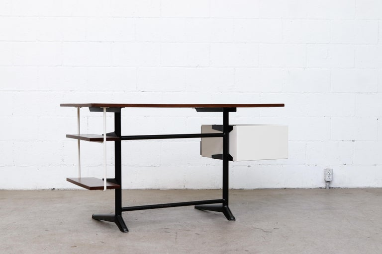 Mid-20th Century Prouve Inspired Modernist Writing Desk