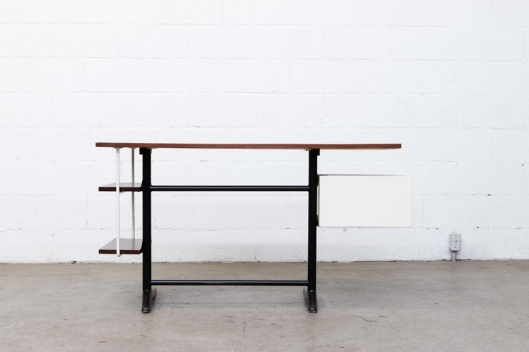 Metal Prouve Inspired Modernist Writing Desk