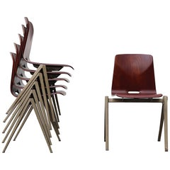 Prouve Style Industrial Stacking Chairs