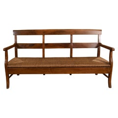 Provencal Bench with Woven Seat