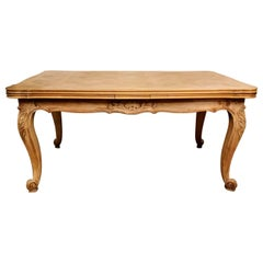 Provençal Extending Dining Table in Beechwood Raw Finish, France, 1910