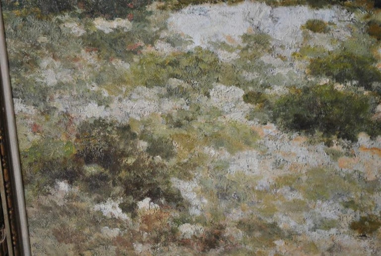 Early 20th Century Provencal Landscape Large Format French School 19th Century Signed Baudin For Sale