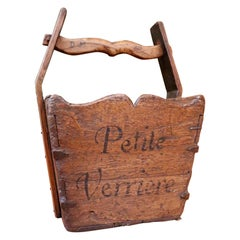 Provence Alpes Cote d'Azur Hand Made Petite Verrier Reclaimed Wood Carriers Box