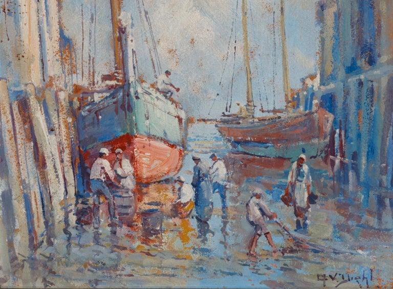 Modern Provincetown Dock, 1920s, Arthur Vidal Diehl 'American' For Sale