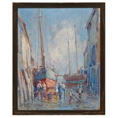 Provincetown Dock, 1920s, Arthur Vidal Diehl 'American'